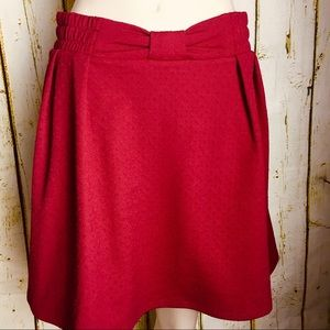 Lauren Conrad Red Skirt Size S . NWT